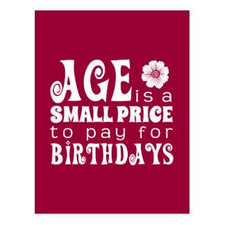 年齢は誕生日の支払をするべき小さい価格です ポストカード