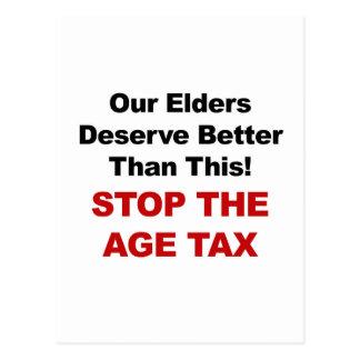 年齢税をストップ ポストカード