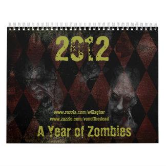 年2012年ゾンビの カレンダー