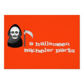 """""""幸せか厳格"""" -ハロウィンのバチュラーパーティ カード"""