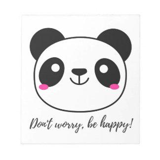 幸せが心配しないで下さい、あって下さい! スローガン ノートパッド