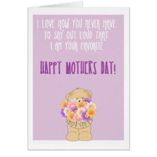 幸せでおもしろいな母の日 カード