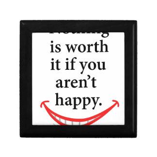 幸せでなければ何も価値がありません ギフトボックス