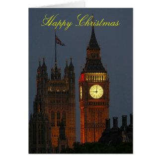 幸せでクリスマス大きいベンロンドン カード