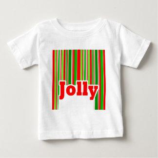 幸せでストライプですてきなベビー ベビーTシャツ