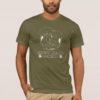 幸せでハスキーなベーカリーの袖なしのTシャツ Tシャツ