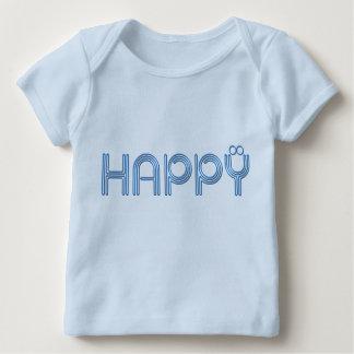 幸せで刺激を受けたで写実的なティー ベビーTシャツ