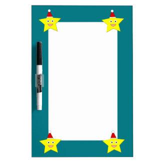 幸せで小さいクリスマスの星のメモ板 ホワイトボード