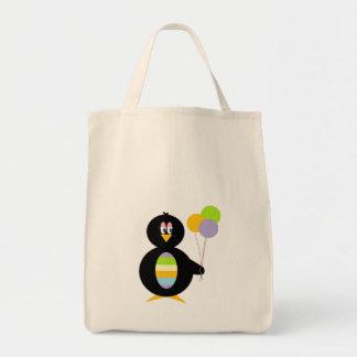 幸せで小さいペンギンのトートバック トートバッグ