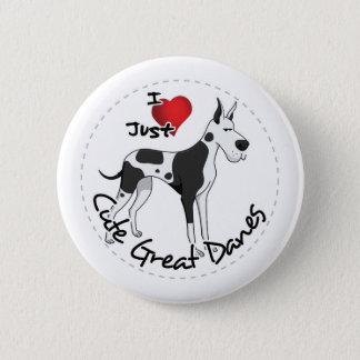 幸せで愛らしくおもしろいで及びかわいいグレートデーン犬 5.7CM 丸型バッジ