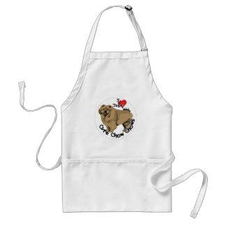 幸せで愛らしくおもしろいで及びかわいいチャウチャウ犬 スタンダードエプロン