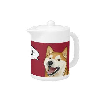 幸せで赤い柴犬の日本人犬