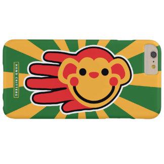 幸せで赤い猿のスマイリーフェイス BARELY THERE iPhone 6 PLUS ケース