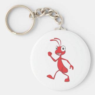 幸せで赤い蟻の歩く キーホルダー