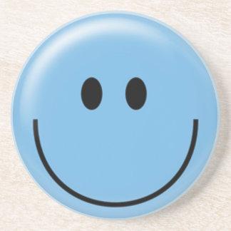 幸せで青いスマイリーフェイス コースター