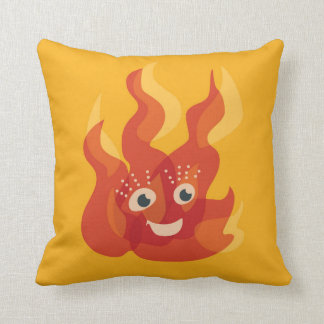 幸せで非常に熱い火の炎のキャラクター クッション