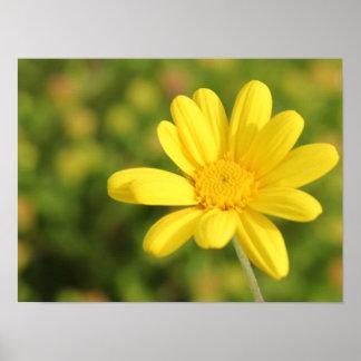 幸せで黄色い花A3ポスター ポスター