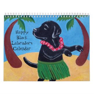 幸せで黒いラブラドールのカレンダー2017年のB カレンダー