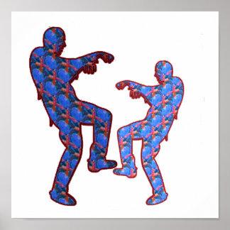 幸せなお祝いのプリント: ゾンビのダンス ポスター