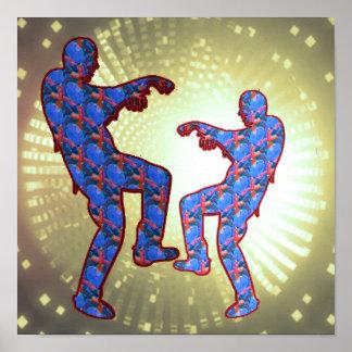 幸せなお祝いのプリント: ゾンビの月のダンス ポスター