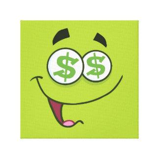 幸せなお金Emoji キャンバスプリント