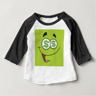 幸せなお金Emoji ベビーTシャツ