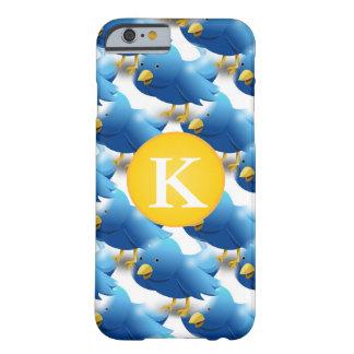 幸せなさえずるTwitterアイコンw/Monogram Barely There iPhone 6 ケース