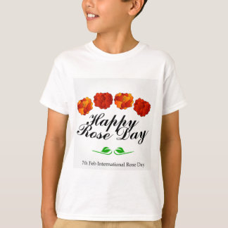 幸せなばら色日 Tシャツ