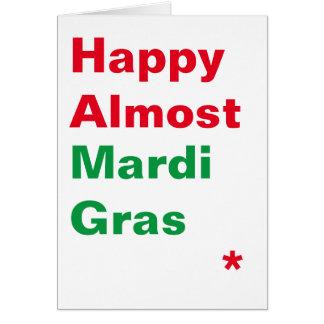 幸せなほとんど謝肉祭の季節的なカード カード
