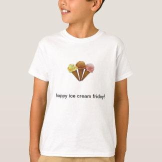 幸せなアイスクリーム金曜日 Tシャツ