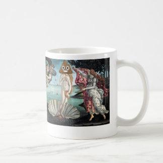 幸せなウンチが付いている金星の誕生 コーヒーマグカップ