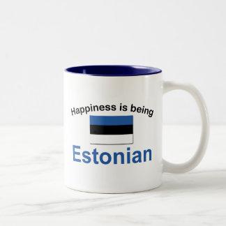 幸せなエストニア語 ツートーンマグカップ