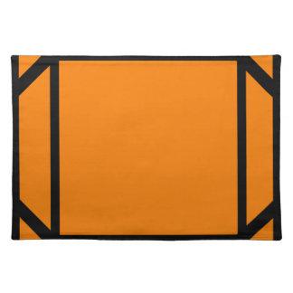 幸せなオレンジ#ColorBlocks ランチョンマット