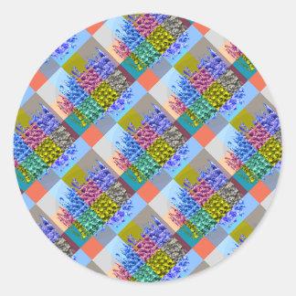 幸せなオーラのグラフィック: 絹の宝石Moziac ラウンドシール