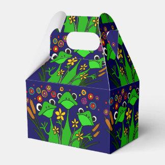 幸せなカエルの民芸のギフト用の箱 フェイバーボックス