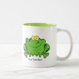 幸せなカエル(名前入りな) ツートーンマグカップ
