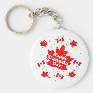 幸せなカナダ日のパーティー キーホルダー