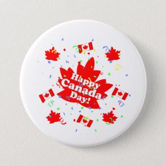 幸せなカナダ日のパーティー 7.6CM 丸型バッジ