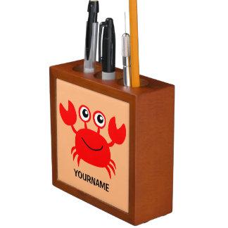 幸せなカニのカスタムな机のオルガナイザー ペンスタンド