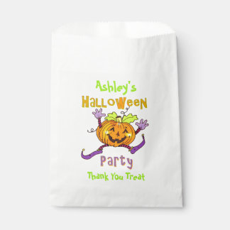 幸せなカボチャハローウィンパーティの名前をカスタムする フェイバーバッグ