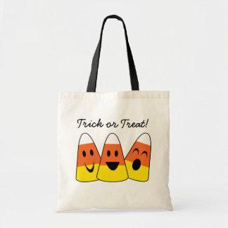 幸せなキャンデートウモロコシのオレンジトリック・オア・トリートハロウィン トートバッグ