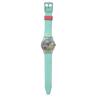 幸せなクジラの水彩画 腕時計