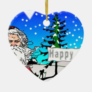 幸せなクリスマス セラミックオーナメント