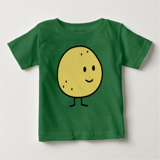 幸せなグレープフルーツのフルーツ ベビーTシャツ