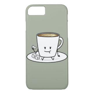 幸せなコーヒー食べ物の砂糖の立方体 iPhone 8/7ケース