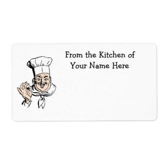 幸せなシェフの食糧パン屋のラベル ラベル