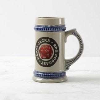 幸せなジャッキビールステイン ビールジョッキ