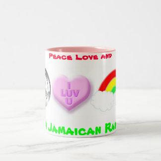 幸せなジャマイカの虹 ツートーンマグカップ