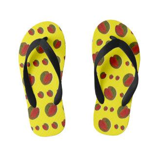 幸せなスイカ: 黄色[幼年期日記] キッズビーチサンダル