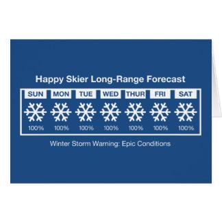 幸せなスキーヤーの予測 カード